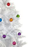 Christmas Baubles on white background Stock Photography