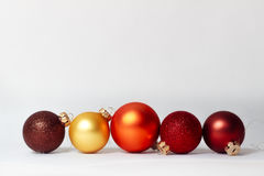 Christmas baubles Stock Photography