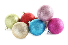 Christmas baubles. On a white background Stock Photos