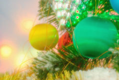 Christmas Baubles-  winter season Royalty Free Stock Photos