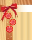 Christmas Baubles With Wrap Stock Photography