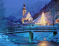 Christmas in Bavaria,Germany. Christmas in Ramsau near Berchtesgaden,Bavaria,Germany Royalty Free Stock Image
