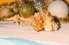 Christmas on the beac Royalty Free Stock Photos