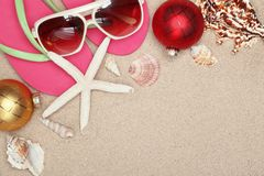 Christmas at the beach Royalty Free Stock Image