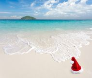 Christmas at beach Royalty Free Stock Image