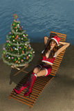 Christmas at the Beach Royalty Free Stock Photos