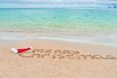 Christmas on beach - holiday background Royalty Free Stock Images