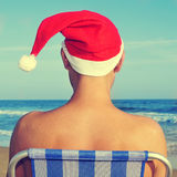 Christmas at the beach Royalty Free Stock Photo