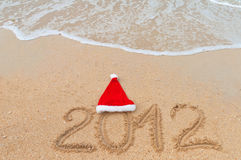 Christmas beach vacation background Royalty Free Stock Photography