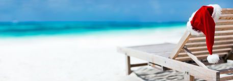 Christmas beach vacation Royalty Free Stock Photo