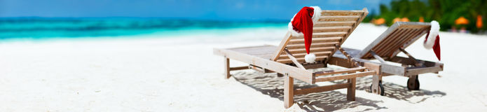 Christmas beach vacation stock photography