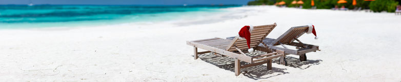 Christmas beach vacation Royalty Free Stock Image