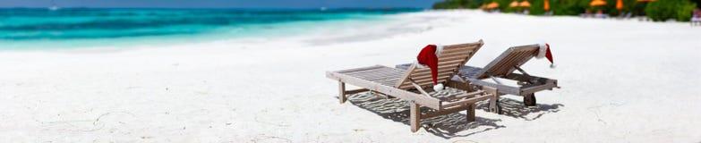 Christmas beach vacation Royalty Free Stock Image