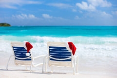 Christmas beach vacation Royalty Free Stock Photos