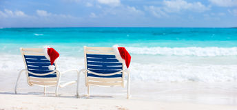 Christmas beach vacation Royalty Free Stock Photo