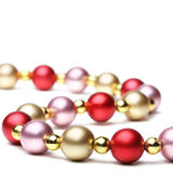 Christmas beads Stock Photo