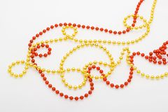 Christmas beads Royalty Free Stock Images