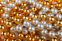 Christmas beads Stock Photography
