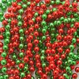 Christmas beads Stock Photo