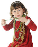 Christmas Beads Royalty Free Stock Photo