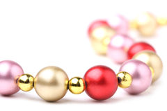 Christmas beads Royalty Free Stock Photos