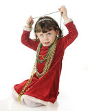 Christmas Beads Aren't for Wearing? Royalty Free Stock Photo