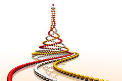 Christmas beads spiral Royalty Free Stock Images