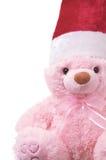 Christmas bear. Isolated on white Stock Photo