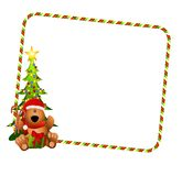 Christmas Bear Border Royalty Free Stock Photo