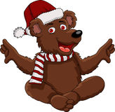 Christmas bear cartoon Royalty Free Stock Photos