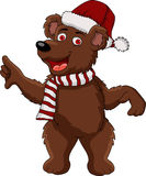 Christmas bear cartoon Stock Photo