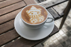 Christmas Bear Coffee Latte Art. Christmas Cute Bear Coffee Latte Art for Christmas and Royalty Free Stock Photos