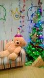 Christmas and bear Stock Photo
