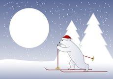 Christmas bear skier Stock Photography