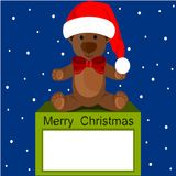 Christmas Bear with snow Stock Photo