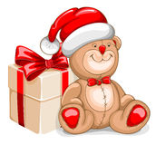 Christmas Bear toy Stock Photo