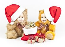 Christmas Bears. Stock Images