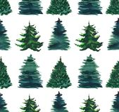 Christmas beautiful abstract graphic artistic wonderful bright holiday winter green spruce trees pattern watercolor hand illustrat. Ion. Perfect for textile royalty free illustration