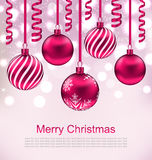 Christmas Beautiful Background with Ball Royalty Free Stock Photography