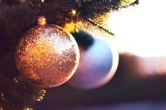 Christmas beautiful balls royalty free stock images