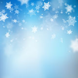 Christmas beautiful blue soft blur snowflake background. EPS 10 vector. Christmas beautiful blue soft blur snowflake background. And also includes EPS 10 vector Stock Photography
