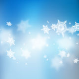 Christmas beautiful blue soft blur snowflake background. EPS 10 vector. Christmas beautiful blue soft blur snowflake background. And also includes EPS 10 vector Royalty Free Stock Photography