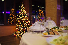 Christmas beautiful Catering Stock Image