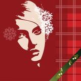 Christmas beautiful girl Royalty Free Stock Image