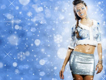 Christmas beautiful girl Royalty Free Stock Image
