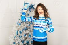 Christmas beautiful girl Stock Photography