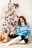 Christmas beautiful girl Royalty Free Stock Photos