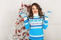 Christmas beautiful girl Stock Images