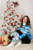 Christmas beautiful girl Royalty Free Stock Images