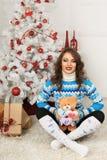 Christmas beautiful girl Stock Photo